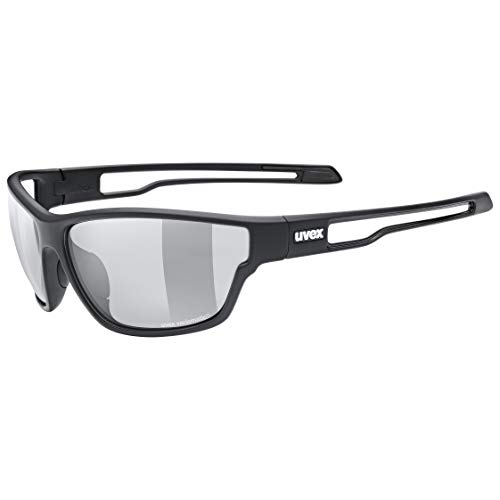 uvex Sportstyle 806 V Gafas de Deporte, Adultos Unisex, Black Mat/Smoke, One Size