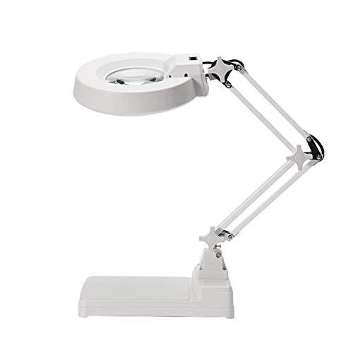 HJTLK Lupa, Lupa de Escritorio de Alta Potencia de Alta definición de Alta definición de Vidrio, Vidrio con luz LED, Belleza, teléfono móvil, reparación de Placas de Circuito, Grabado We
