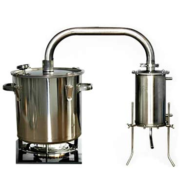 CGOLDENWALL Destilador de vino de acero inoxidable, dispositivo para hacer vino, alcohol,...