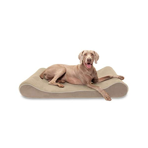 Furhaven Pet – Plush Orthopedic Sofa, L-Shaped Chaise Couch, Ergonomic Contour Mattress, & Long Faux Fur Calming Donut Dog Bed for Dogs & Cats – Multiple Styles, Sizes, & Colors