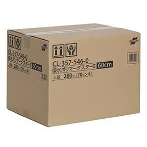 テラモト 吸水ポリマーダスター�U モップ幅60cmタイプ 280枚入 CL-357-546-0