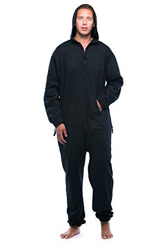 #followme 6435-BLK-XL Jumpsuit Adult Onesie Pajamas Black
