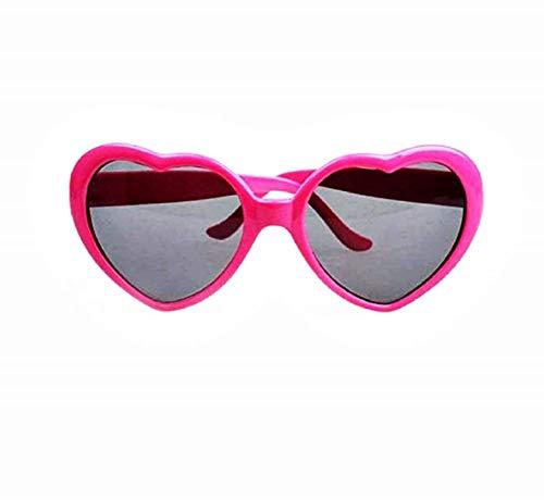 KIRALOVE Gafas de sol vintage heart para mujer - funny - lolita - polarized uv400 - fucsia - casual - modern - niña