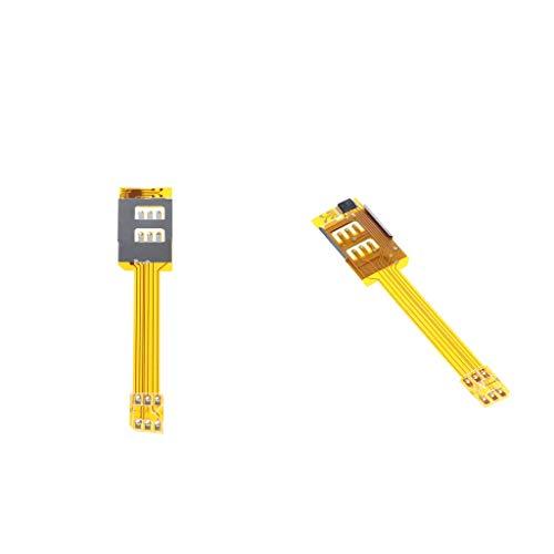 IPOTCH 2 Piezas Adaptadores de Tarjeta SIM Dual Compatible con iPhone 6S / 6 / 5S / 5 / 4S / 4