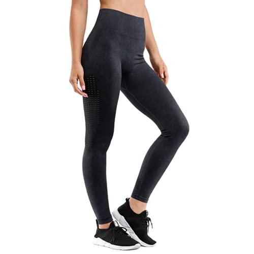 QTJY Pantalones de Yoga Retro para Mujer, Cintura Alta, Push-up, Ejercicio, Mallas de Gimnasio, Correr al Aire Libre, Pantalones Deportivos para Celulitis, B L