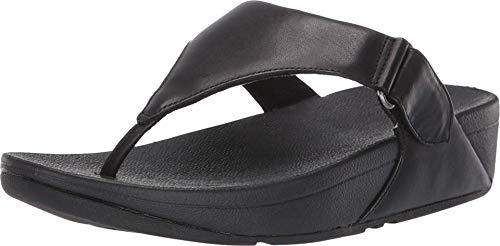 FitFlop Sarna Toe Thong Sandal All Black 8 M (B)