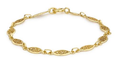 Carissima Gold Bracciale da Donna, Oro Giallo 9K (375) con Vetro