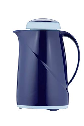 Helios Wave Mini Isolierkanne, Kunststoff, dunkelblau, 0,6 l