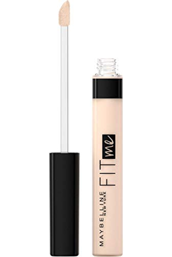 Maybelline New York Fit Me Correttore Liquido, Formula Leggera, Ottima Coprenza, Finish Anti Fatica, 15 Fair
