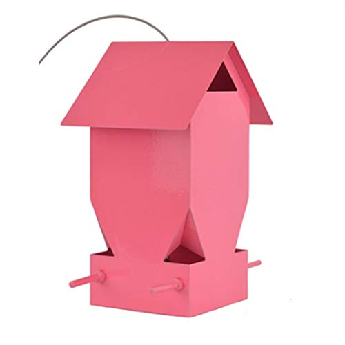 Wyaenghai vogelvoerer traditioneel metaalweerbestendig decoratief vogelhuisje buitenshuis vrij staand eenvoudig te reinigen en te vervangen vogelhuisje