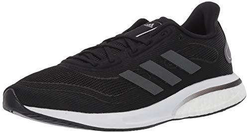 Adidas womens Supernova Running Shoe, Black/Grey/Silver, 9.5 US