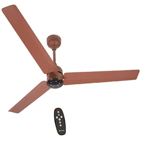 atomberg Renesa 1200 mm BLDC Motor with Remote 3 Blade Ceiling Fan(Brown, Pack of 1)