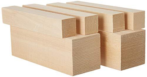 Lindenholz (Basswood) - Schnitzholz-Set mit großen Kanthölzern - Das beste Schnitzerei-Set für Kinder - Enthält Kanthölzer aus weichem Holz in den bevorzugten Abmessungen - Made in The USA