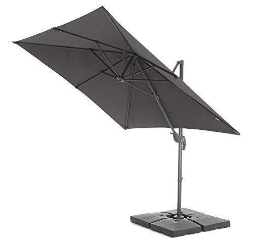 Acaza Parasol Flottant inclinable, 250x250 cm, Toile...