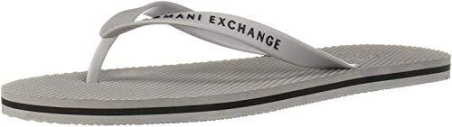 Armani Exchange Classic Flip Flop, Chanclas para Hombre, Gris (Grey 00176), 40 EU