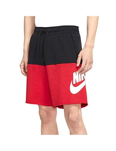 Nike CJ4352-011 Pantaloncini, Nero/Rosso, M Uomo