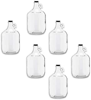 C-Store Packaging - 1 Gallon (128 oz) Clear Glass Jug With 38mm Cap - Pack of 6 | FAST SAME DAY SHIPPING