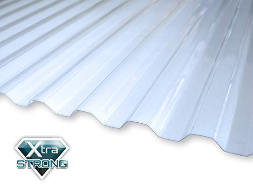KAISER plastic® Wellplatte | Xtra Strong (PC) | glatt und klar | Trapez 76/18-1mm Stärke | 90 x 120 cm | 1 Stk. | Made In Germany