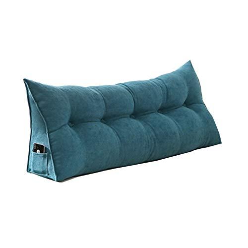 Sarah Duke Dreieckige Keil Kissen, bettsitzkissen Kissen Rückenkisse Polstermöbel, Bett-Rückenstütze Keilform, für Sofa Bett Couch Wohn und Schlafzimmer (Hellblau,60 X 20 X 50cm)