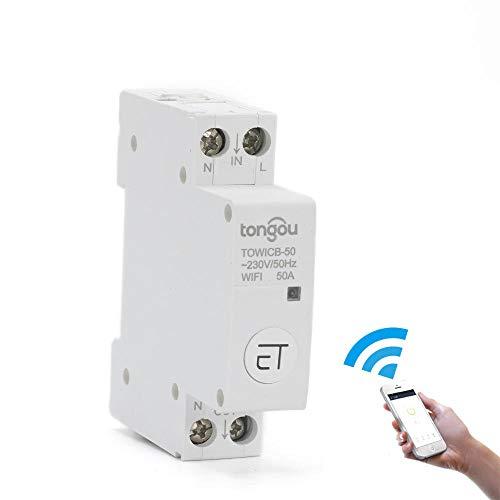 WiFi-Leistungsschalter-Fernbedienung von eWeLink APP Voice Control mit Amazon Alexa Google Home 18-mm-MCB-Din-Rail-Hauptschalter-2_Pole_50A