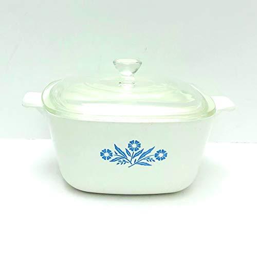 Vintage Corning Ware (P-1-3/4-B) 'Cornflower' Casserole Baking Dish (1.75 quart) with lid