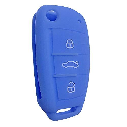 FBFGCar Key Case Shell Fob para Audi A3 Q2L Q3 S3 RS3 A4 A6 A6L A8 Q7 A5 Q5 C5 C6 B6 B7 B8 80 A2 Key Fob Case Silica Gel Remote Flip