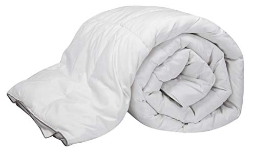 Pikolin Home - Edredón/Relleno nórdico natural de plumón de oca 96%, funda 100% algodón, dúo 100+150gr/m², 150x220cm-Cama 80/90 (Todas las medidas)