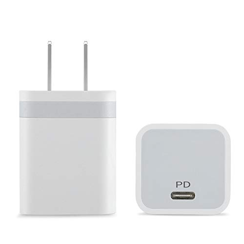 IVELLTARE Charger for iPhone 12, 20W USB C Charger Power Adapter PD Wall Plug Fast Charging Block Compatible with iPhone 12/12 Mini/12 Pro/12 Pro Max, iPhone 8 and Later (2-Pack)