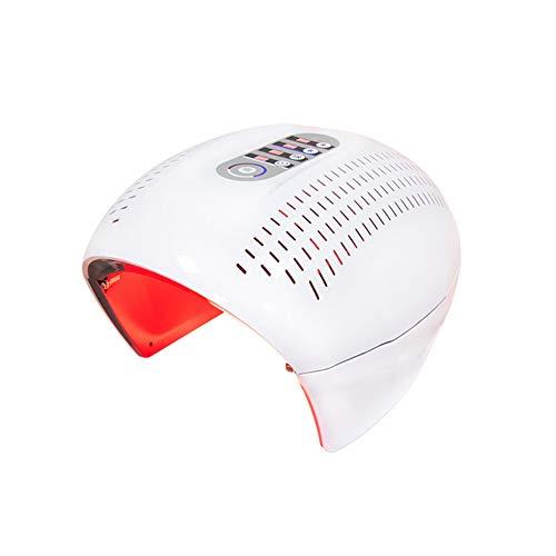 WangXN Ledmasker, anti-puistjes, schoonheid, lichttherapie, voor gezicht, hals, 4 kleuren, foton, led-masker