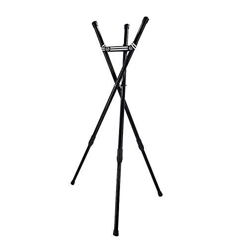 Soporte retráctil de acero para tambor de lengua y handpan, soporte de tambor de construcción de trípode reforzado con hierro, ideal para instrumentos de percusión de 10 a 22 pulgadas
