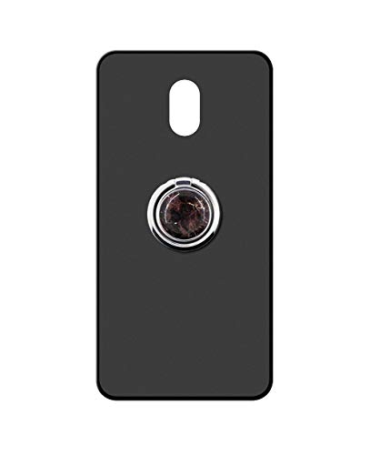 Sunrive Kompatibel mit Meizu 15 Lite Hülle Silikon, 360°drehbarer Ständer Ring Fingerhalter Fingerhalterung Handyhülle matt Schutzhülle Etui Hülle (Schwarzer Marmor) MEHRWEG