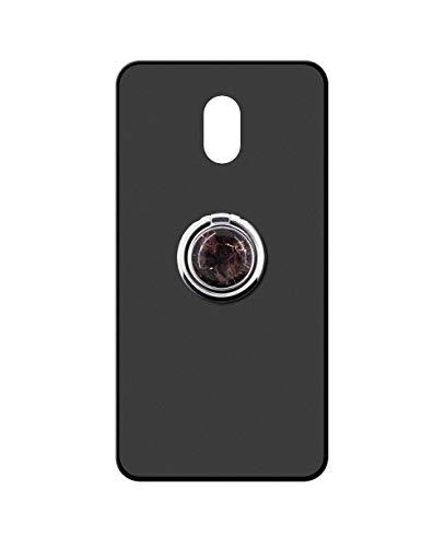 Sunrive Kompatibel mit Meizu M3 Max Hülle Silikon, 360°drehbarer Ständer Ring Fingerhalter Fingerhalterung Handyhülle matt Schutzhülle Etui Hülle (Schwarzer Marmor) MEHRWEG
