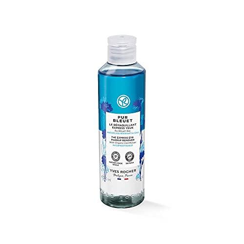 Yves Rocher PUR BLEUET Express Augenmake-up Entferner, mit Bio-Kornblume, Pflege für empfindliche Augen, 1 x 200 ml Flacon