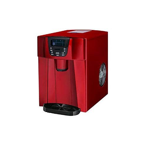 CONRAL Automatische Eismaschine, 3-in-1-Counter-Top-Eismaschine + Eiswürfelspender + Kaltwasserspender mit LED-Anzeige, 2 auswählbare Würfelgrößen, mit Eisportionierer