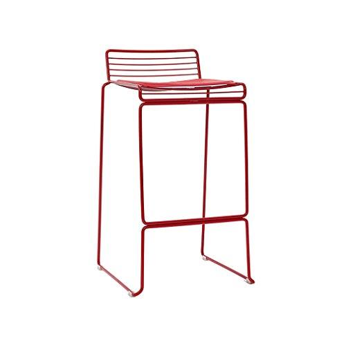 XiuHUa barkruk - barstoel smeedijzeren kruk vrije tijd hoge stoel tuinstoel zwart rood wit 48 x 49 x 88 cm barkruk
