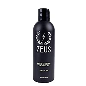 ZEUS 8oz Beard Shampoo, Cruelty Free Beard Wash, USA MADE, Natural Ingredients, Cleanse, Soften, Aides Itching & Flaking… 2