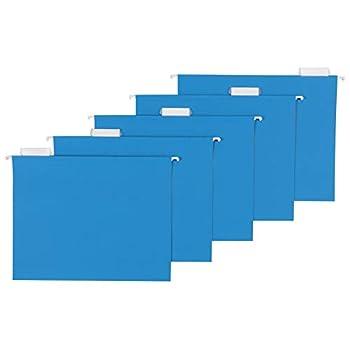 Amazon Basics Hanging Folders Letter Size Blue 25-Pack