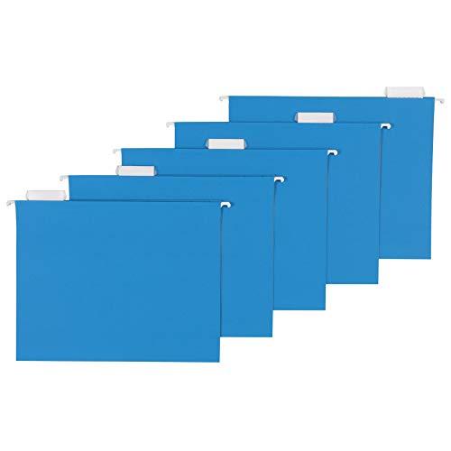 Amazon Basics Hanging Folders, Letter Size, Blue, 25-Pack