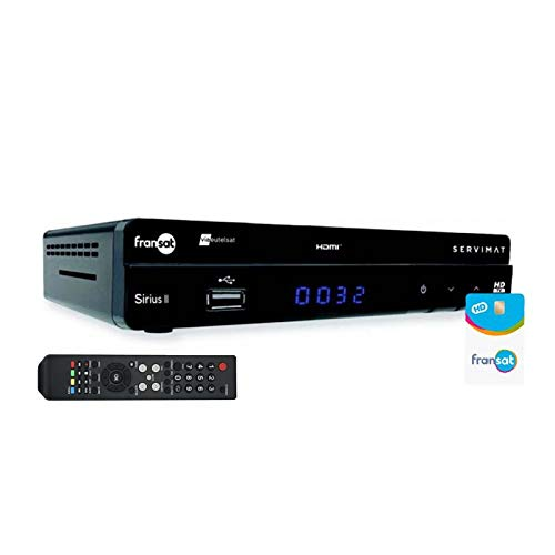 petit Récepteur TV Satellite Servimat HD + Carte Viaccess Fransat PC6 Eutelsat 5W