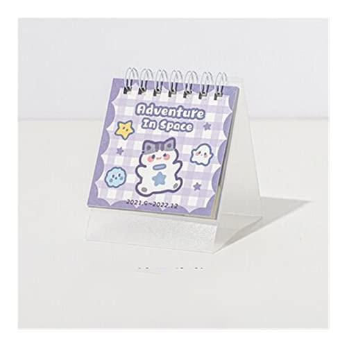 Monthly Daily Planner Calendar 4 projekty 2022 Cute Animal Paradise Series Kalendarz 365 dni Mini Przenośny kalendarz Codzienny planista rozkładu jazdy Kalendarz planowania (Color : B)