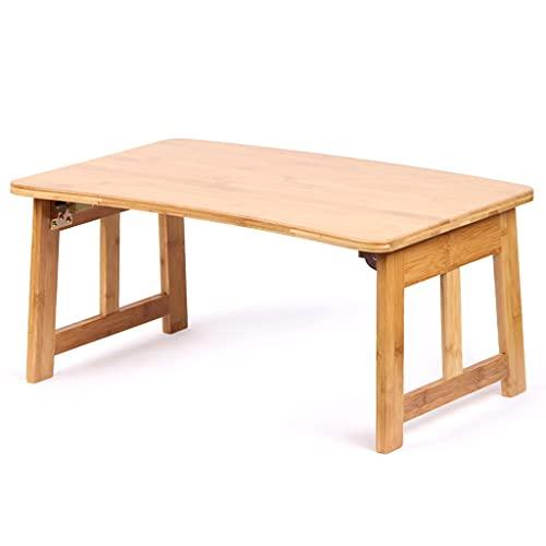 zlw-shop Kaffebord soffbord naturligt bambu te bord säng kontor skrivbord, används i sovrummet vardagsrum kök och mer förvaring Shelgf litet bord