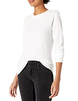 Hanes Plus Size Women's Ultimate Thermal Crew, White, Large