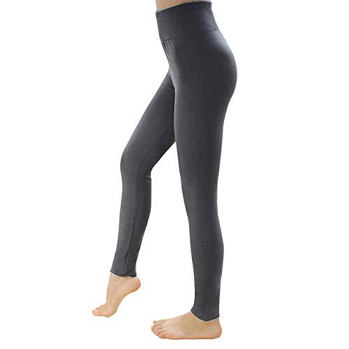 YHWW Leggings,Warm Women's Plus Velvet Winter Leggings Ankle-Length Keep Warm Solid Pants High Waist Large Size Women Leggings,Gray,One Size