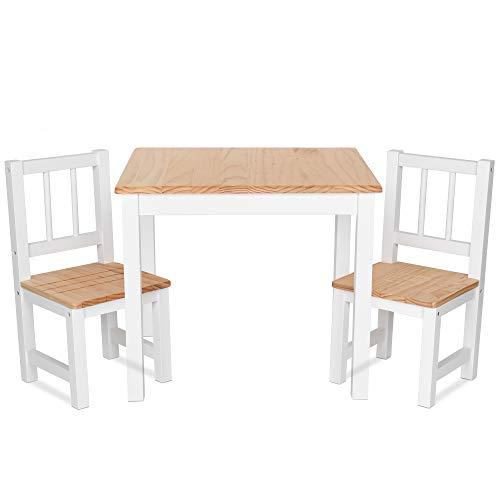IB-Style - Kindersitzgruppe NOA | 3 Kombinationen | Set: 1x Tisch + 2X Stühle - Stuhl Truhenbank Kindermöbel Tisch Kindertisch Kinderstuhl