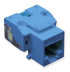 ICC CAT5e RJ45 Keystone Jack for EZ Style, Blue, 25-Pack