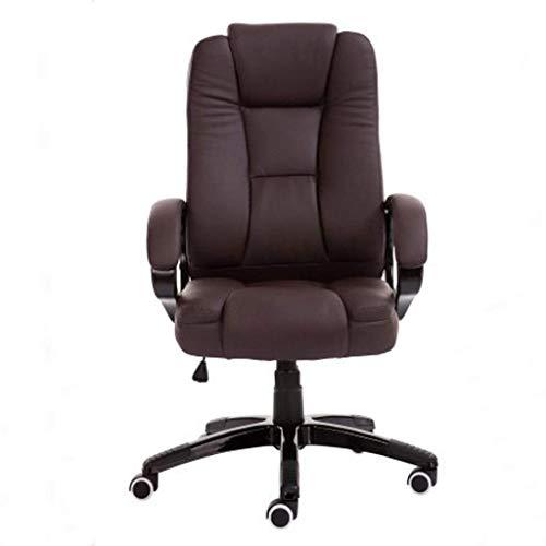YYhkeby Silla de oficina de masaje, silla de oficina reclinable, ergonómica para computadora, silla de oficina en casa, respaldo ergonómico (color: borde rojo blanco) Jialele (color: marrón)