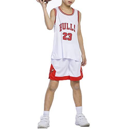 LIZTX Conjunto De Camisetas De Baloncesto Michael Jordan para Niños-Bulls Jordan # 23 Conjunto De Traje De Entrenamiento De Baloncesto para Niños Y Niñas Ropa De Rendimiento