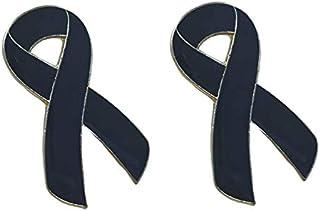 Gemelolandia   Pack 2 Pins de Solapa Lazo negro Black Ribbon mod 2 28x15mm   Pines Para las Camisas, Chaquetas, Americanas...