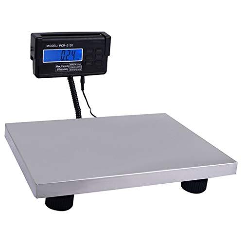 WCX 300kg/0.1kg Digitale Postwaage Edelstahl-Plattform Elektronische Waage Gepäckwaage zum Wiegen der Post mit ausziehbarem Kabel LCD Display (Color : Silver, Size : 300kg/0.1kg)