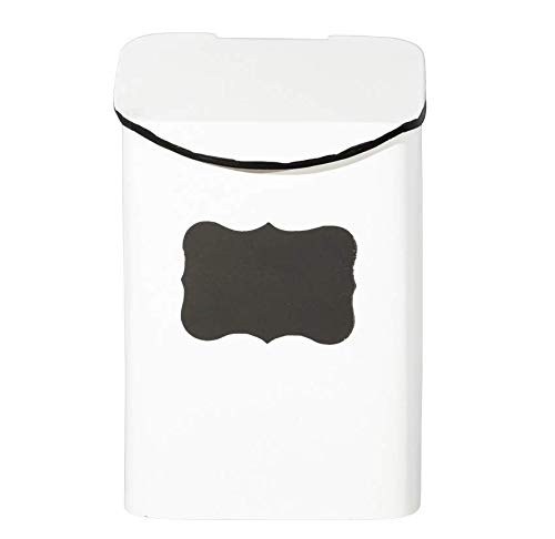 Farmhouse Home Decor - Storage Bin with Hinged Lid Great for Use As A Lint Bin for Laundry Room Detergent Pod Holder or Cat Treat Container